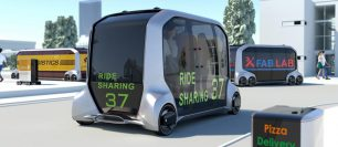 Toyota Electric e-Palette Self-Driving Modular Vehicle