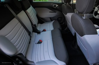 2014 FIAT 500L Sliding Rear Seats