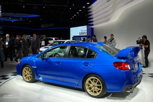 2014 NAIAS - 2015 Subaru WRX STI WR Blue