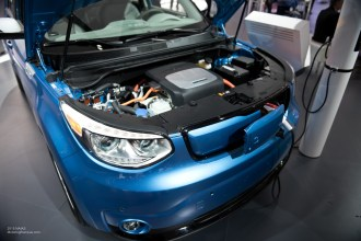 2015 NAIAS Kia Soul EV Engine Bay