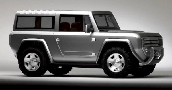 El prototipo Bronco Concept tiene las mismas líneas angulares y rígidas de la primera generación de la Bronco.