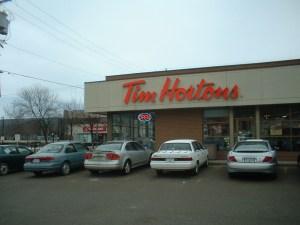 Tim Horton's parking lot (photo credit Jill Browne)