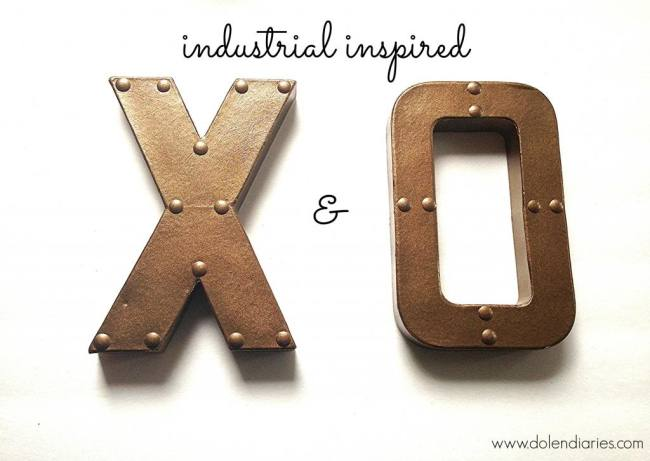 20 Last Minute Valentine Craft Ideas | Industrial X & O | Dolen Diaries