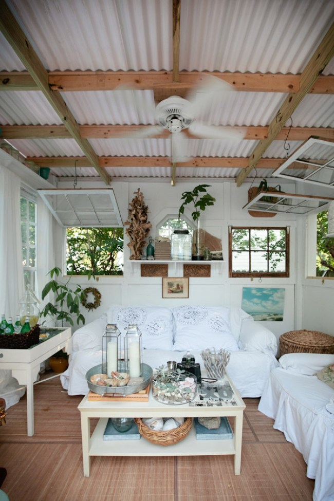 Corrugated metal in interior design for Cottage style roof design