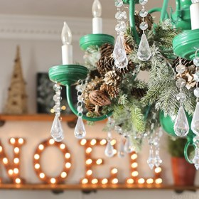 chandelier-decorated-for-christmas-and-noel-marquee-light-mountainmodernlife.com