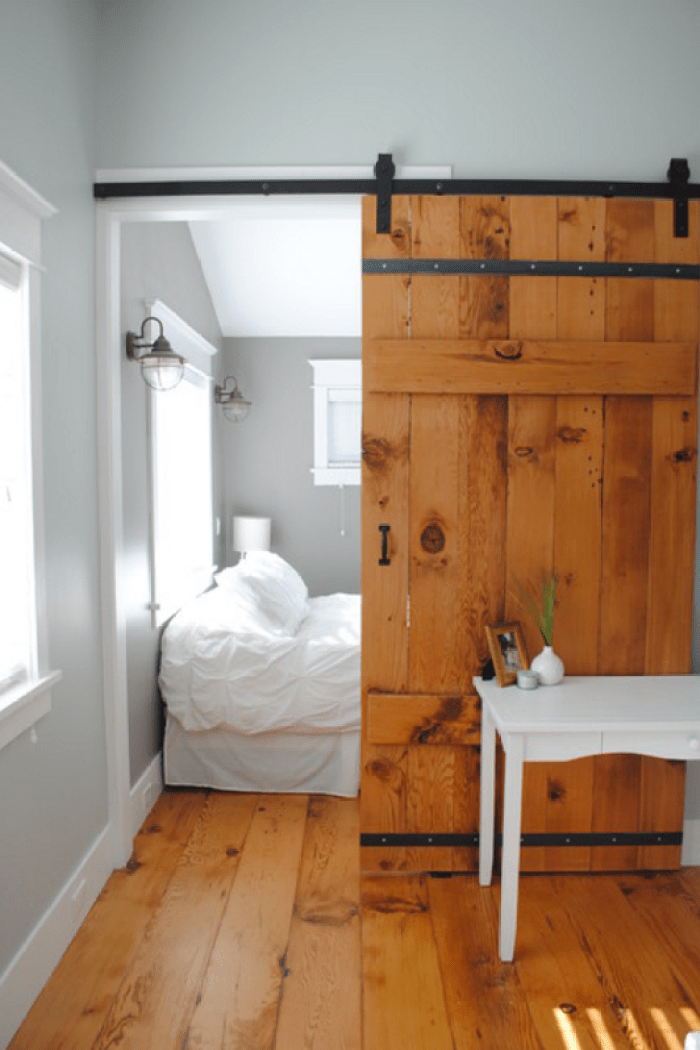 Sliding barn door designs for Bedroom door ideas loft apartment