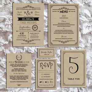 Printable Rustic DIY Wedding Invitation Set | MountainModernLife.com