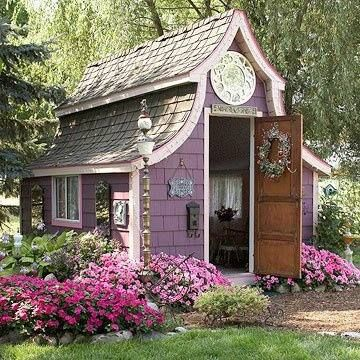 purple garden shed radiant orchid in home decor pantone color of the year 2014