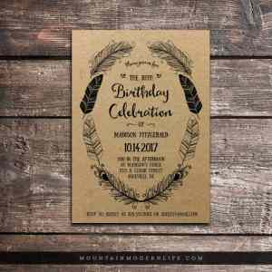 rustic-boho-birthday-invitation-mountainmodernlife-com
