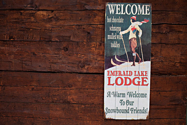 vintage ski sign