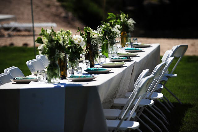 mountain wedding tablescape