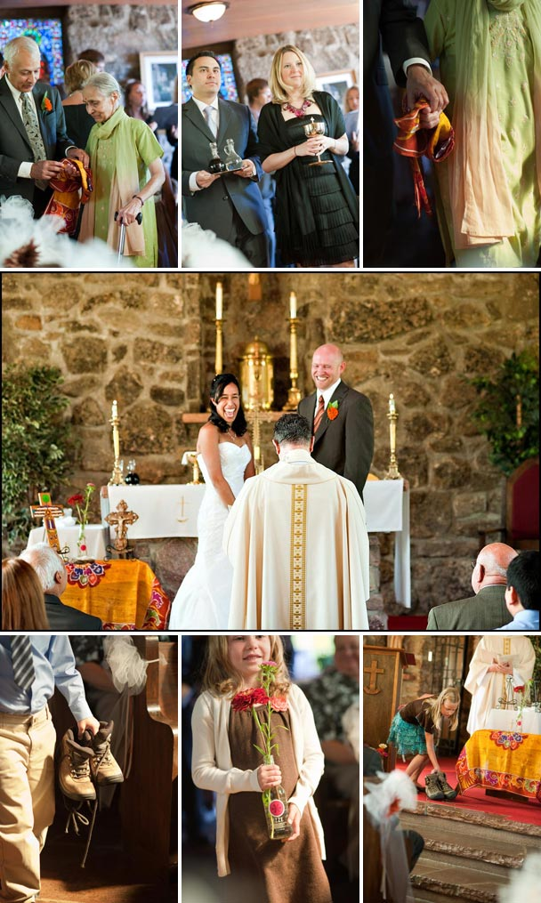 guests bring meaningful objects to the alter