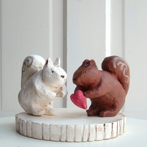 squirrel wedding cake topper