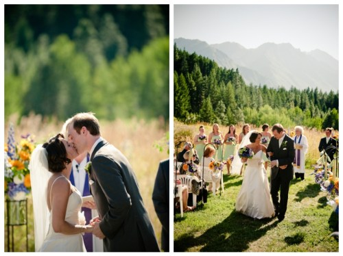 mountain meadow wedding ceremony