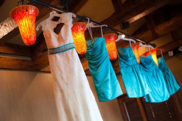 turquoise bridesmaids dresses