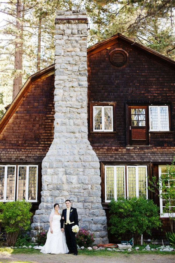 Rustic lake tahoe wedding
