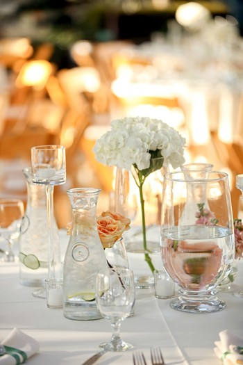 pretty white tablescape