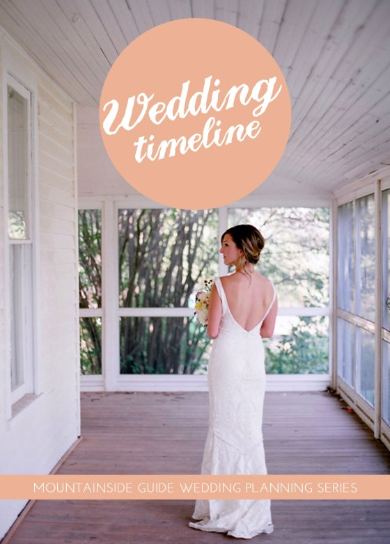 wedding planning timeline and checklist cover