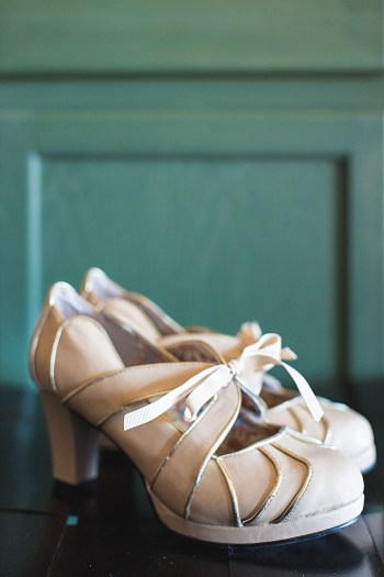 vintage wedding shoes | JoPhoto Townsend Tennessee