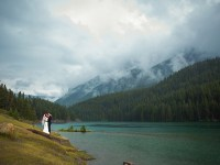 lovely mountain wedding portrait| Banff Wedding by Just for You Photography