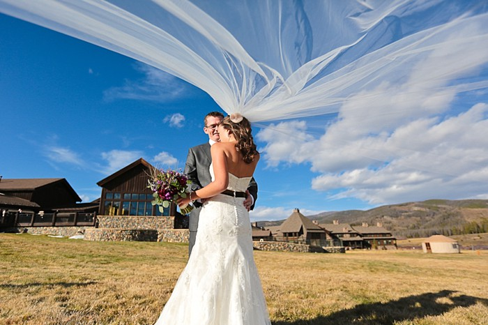 13-Devils-Thumb-Ranch-wedding-Becky-Young Photography-veil-flying