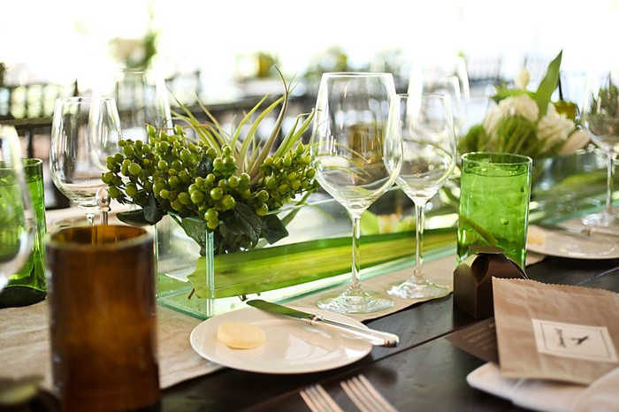 green centerpieces | Deer Valley Utah Wedding | Pepper Nix Photography