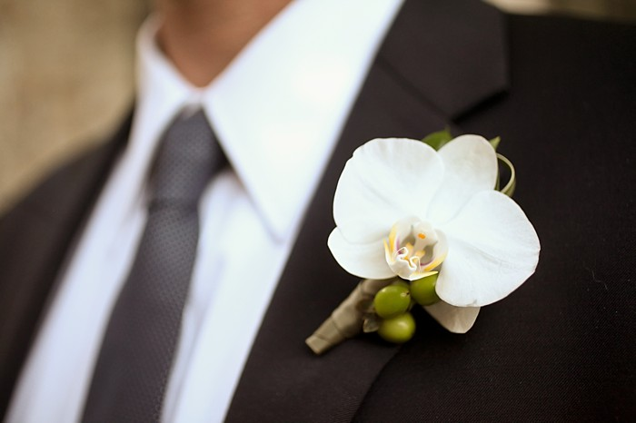 orchid Boutonniere | Deer Valley Utah Wedding | Pepper Nix Photography