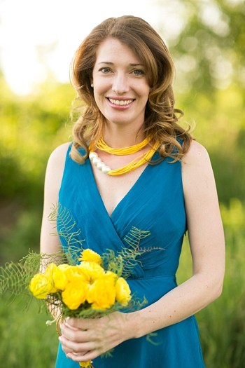 Blue Bridesmaid Dress with yellow flowers | Gedney Farms Wedding in the Berkshires| Shane Godfrey Photography