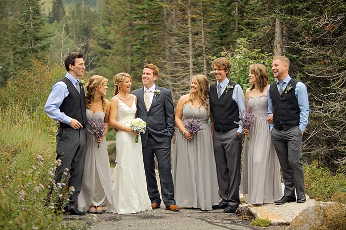 bridal party | Snowbird Utah Wedding Logan Walker Photography