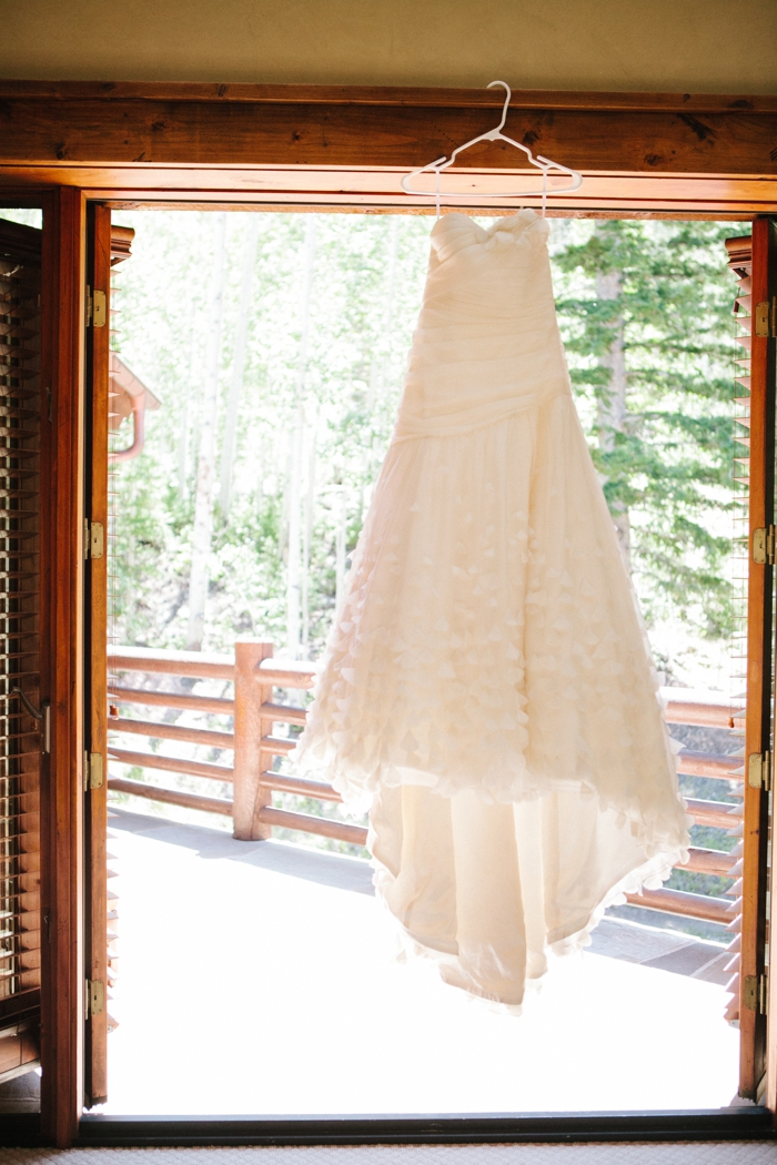 dress | Park City Luxury Home Wedding