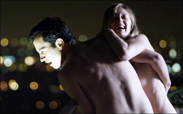 "Chris Messina and Marin Ireland in a scene from Matt Ross' film ""28 Hotel Rooms"""