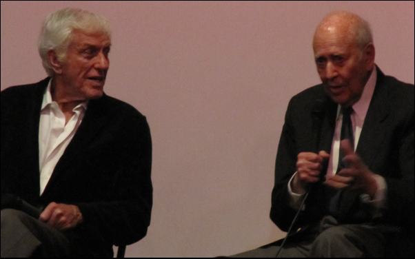 "Dick Van Dyke and Carl Reiner at a screening of ""The Comic"" at the New Beverly"