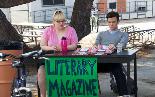 """Rebel Wilson and Chris Colfer in a scene from Brian Dannelly's film """"Struck By Lightning"""""""