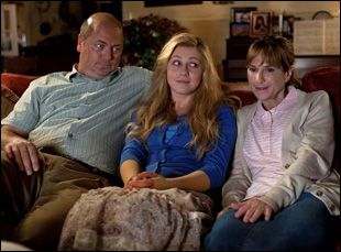 """Nick Offerman, Julianne Hough and Holly Hunter in Diablo Cody's film """"Paradise"""""""