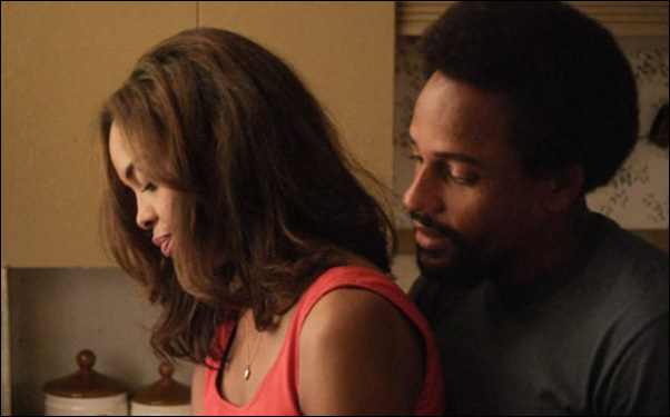 """Sharon Leal and Hill Harper in Tommy Oliver's film """"1982"""""""