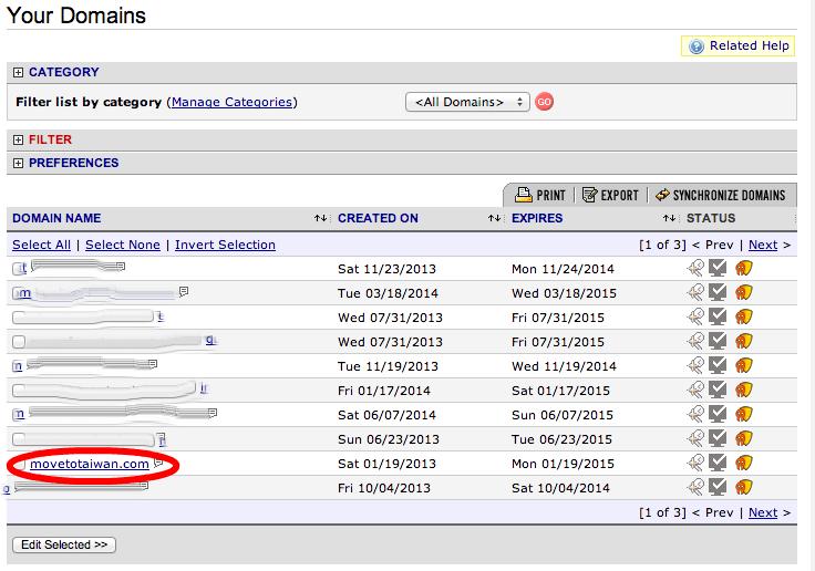 Namecheap Domain Page