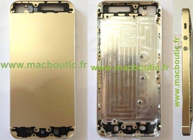 Imagen muy clara del nuevo iPhone en color dorado