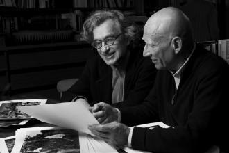 "Wim Wenders and Sebastião Selgado in ""The Salt of the Earth."""