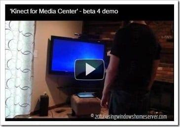 Kinect for Media Center