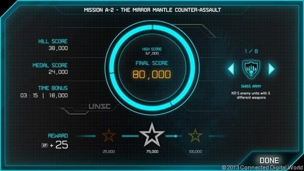 Halo Spartan Assault - Mission Score