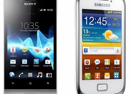 Vodafone amplia la gama de smartphones disponibles con los Sony Xperia Miro y Samsung Galaxy Mini II