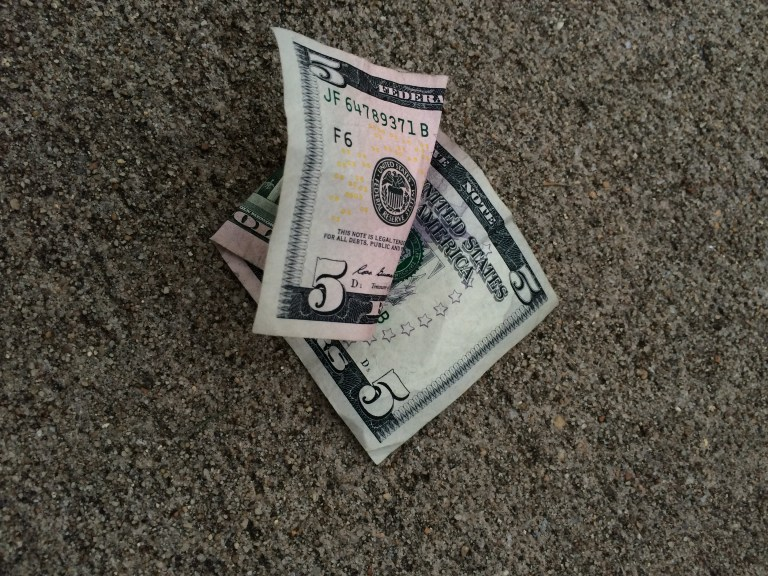 Finding Five Dollars | Moving Peaces
