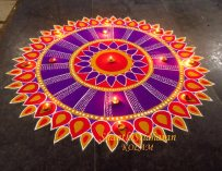 Mandala Kolams : La poudre de riz colorée de Shanthi Sridharan