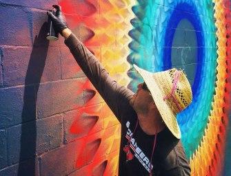 Les incroyables fresques kaléidoscopiques de Douglas Hoekzema