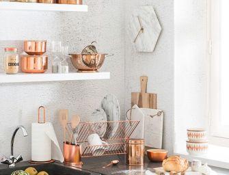 Le cuivre mis à l'honneur dans la collection Modern Copper de Maisons du Monde