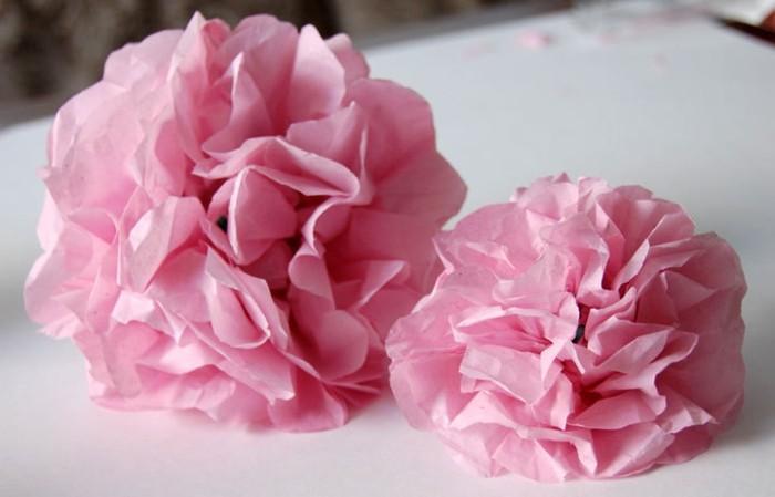 Fleur Papier Soie Finest With Fleur Papier Soie Pcs Mixte Pompons
