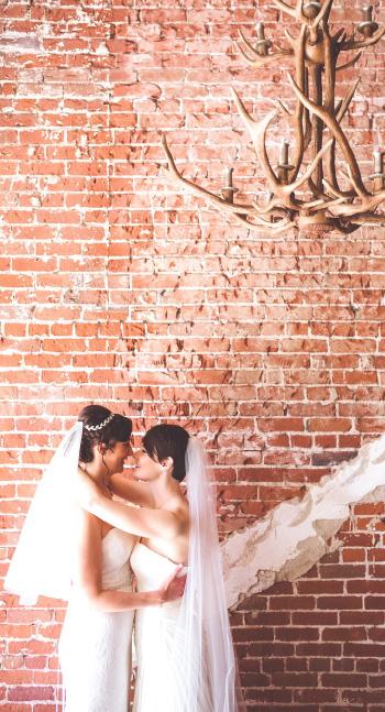 same sex wedding, The Loft on Pine, 2 brides, Best Wedding Planner Moxie Bright Events