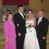 The proud parents - Pat & Mary Leahy with the happy couple