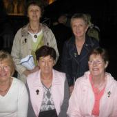 Kerry women sitting on Prince Rainer's seat