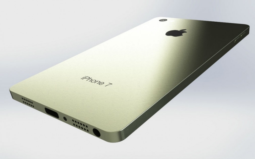 Jan-Willem Reusink's iPhone 7 concept design envisages a return to the sharp edges of the iPhone 4 and 5, with an industrial all-metal frame. Picture: Jan-Willem Reusink